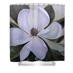 Magnolia Square Shower Curtain