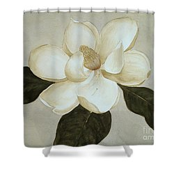 Shower Curtain featuring the painting Magnolia Wave by Nancy Kane Chapman