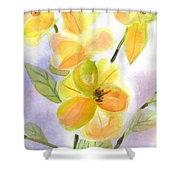 Shower Curtain featuring the painting Magnolias Gentle by Kip DeVore