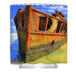 Maheno Shipwreck Shower Curtain