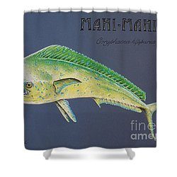 Mahi-mahi Shower Curtain by Katharina Filus