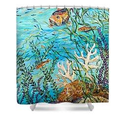 Maho Bay Right Shower Curtain by Linda Olsen