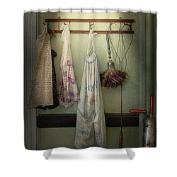 Maid - Always So Much Housework Shower Curtain by Mike Savad