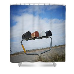 Shower Curtain featuring the photograph Mailboxes by Erika Weber