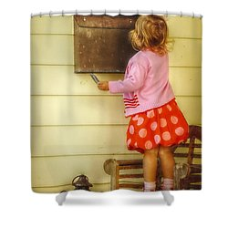 Mailing A Letter Shower Curtain by Valerie Reeves