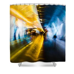 Shower Curtain featuring the photograph Main Access Tunnel Nyryx Station by Alex Lapidus