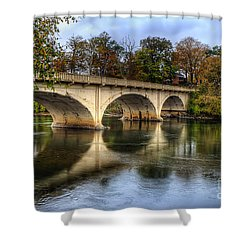 Main St Bridge Shower Curtain