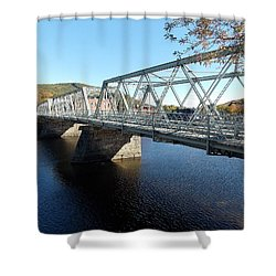 Main Street Bridge Shelbourne Falls  Shower Curtain
