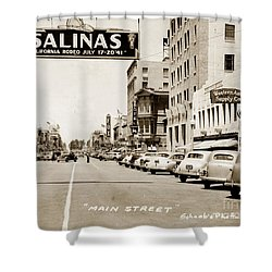 Main Street Salinas California 1941 Shower Curtain