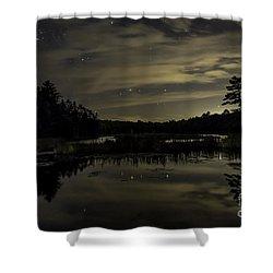Maine Beaver Pond At Night Shower Curtain