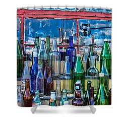Maine Bottle Collector Shower Curtain