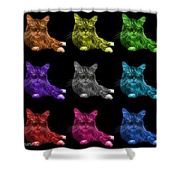 Maine Coon Cat - 3926 - Bb - M Shower Curtain by James Ahn