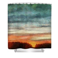 Maine Sunset Shower Curtain by RC deWinter