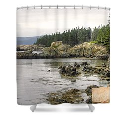 Maine's Beautiful Rocky Shore Shower Curtain