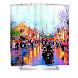 Shower Curtain featuring the photograph Mainstreet Disneyland by David Lawson