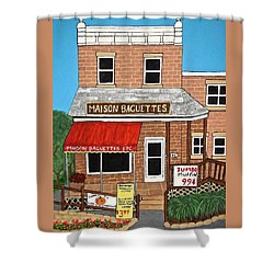 Maison Baguettes Shower Curtain