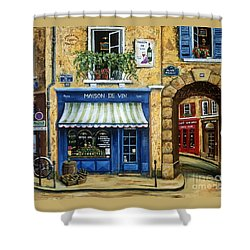 Maison De Vin Shower Curtain by Marilyn Dunlap