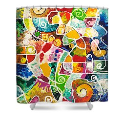 Maize Shower Curtain by Sally Trace