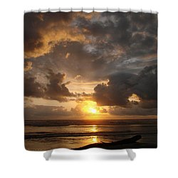 Shower Curtain featuring the photograph Majestic Sunset by Athena Mckinzie