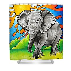 Majestic Elephant Shower Curtain