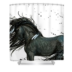 Majestic Friesian Horse 112 Shower Curtain