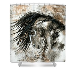 Majestic Horse Series 88 Shower Curtain by AmyLyn Bihrle