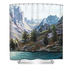 Majestic Montana Shower Curtain