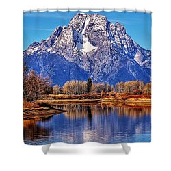 Shower Curtain featuring the photograph Majestic Moran by Benjamin Yeager