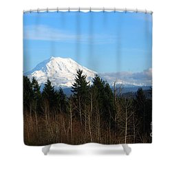 Majestic Mount Rainier Shower Curtain