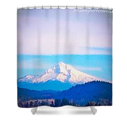 Majestic Mt Hood Shower Curtain