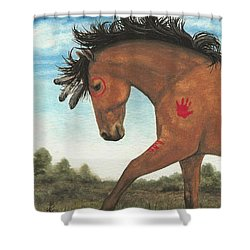Majestic Mustang 36 Shower Curtain by AmyLyn Bihrle
