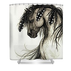Majestic Mustang Horse Series #51 Shower Curtain by AmyLyn Bihrle