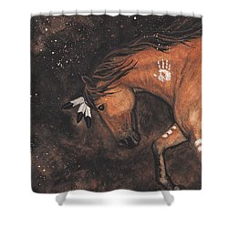 Majestic Mustang Series 40 Shower Curtain by AmyLyn Bihrle