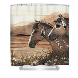 Majestic Mustang Series 42 Shower Curtain by AmyLyn Bihrle