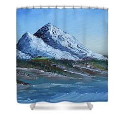 Majestic Peaks Shower Curtain