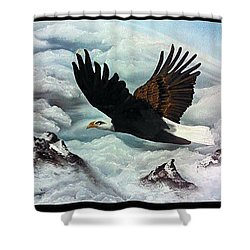 Shower Curtain featuring the painting Majestic Splendor by Dianna Lewis