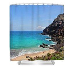 Makapu'u Beach  Shower Curtain by Kristine Merc