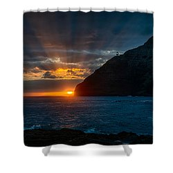 Makapuu Sunrise Shower Curtain