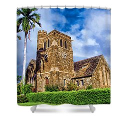 Makawao Union Church 1 Shower Curtain