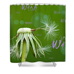 Make A Wish Card Shower Curtain