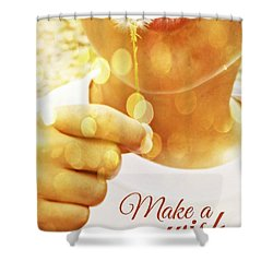 Make A Wish Shower Curtain by Valerie Reeves
