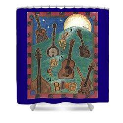 Make Mine Blue Shower Curtain