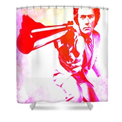 Shower Curtain featuring the painting Make My Day by Brian Reaves