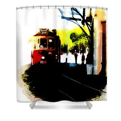 Make Way For The Tram  Shower Curtain