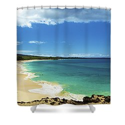 Makena Beach Lookout Shower Curtain by Kicka Witte