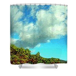 Makena Beach Maui Shower Curtain by Dominic Piperata