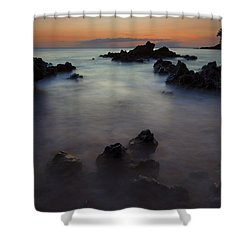 Makena Dream Shower Curtain by Mike  Dawson