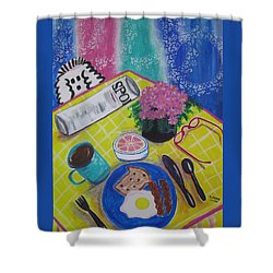 Makin' His Move Shower Curtain by Diane Pape