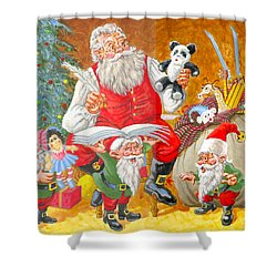 Making A List Checking It Twice Shower Curtain