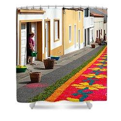 Making Flower Carpets Shower Curtain by Gaspar Avila